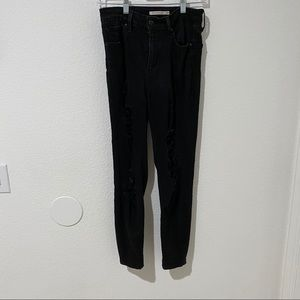 Levis 721 ripped skinny jeans